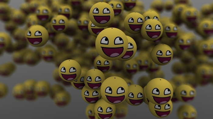 balloon, smiling, 3D