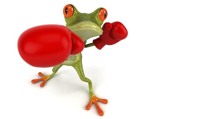 gloves, frog, 3D