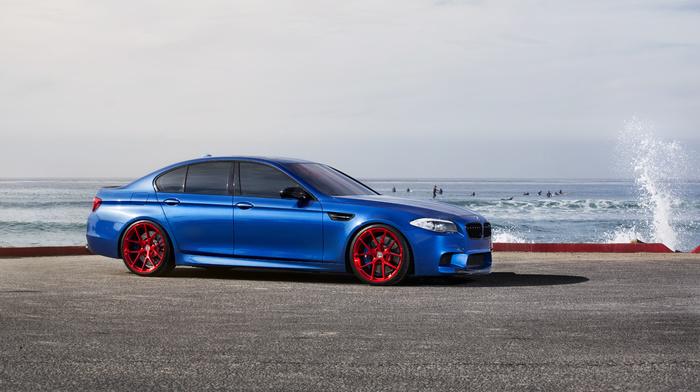 БМВ, monte carlo blue, синий, m5, wheels, bmw, red, f10, автомобили