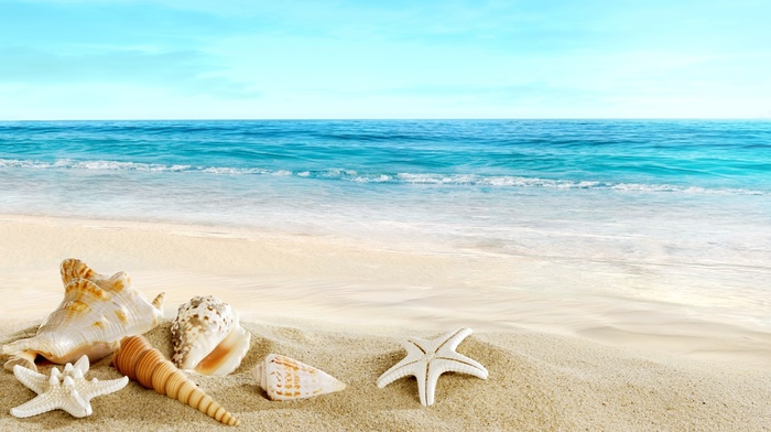 beautiful, rest, sand, summer, stunner, ocean, beach, photoshop