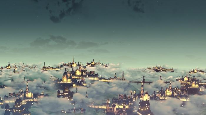 Artwork BioShock Infinite Colombia City Video Games Clouds Download Wallpaper