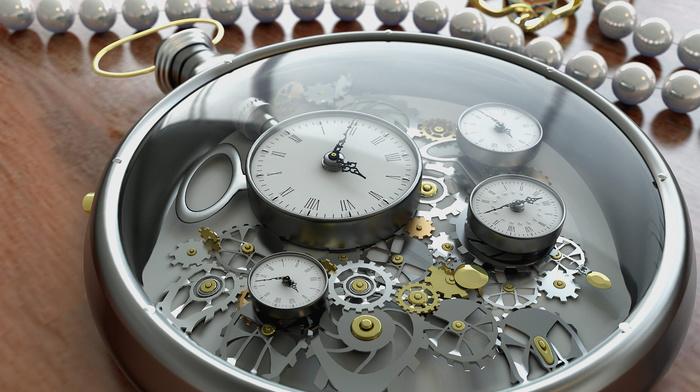 decoration, clocks, 3D