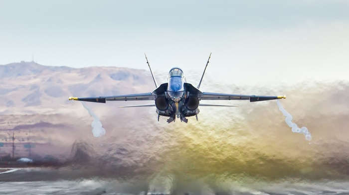 airplane, McDonnell Douglas FA, 18 Hornet, jet fighter
