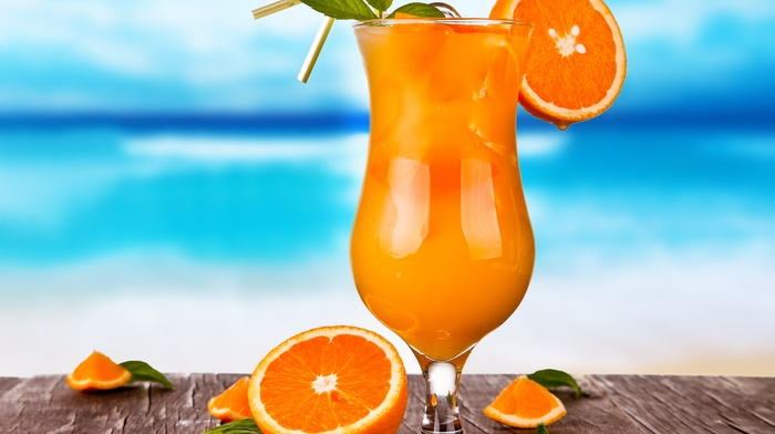 океан, жажда, природа, фреш, сок, капля, макро, мята, лето, коктейль, вкусно