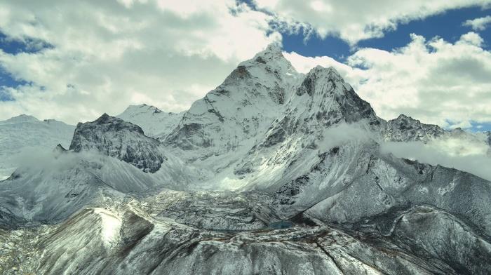 nature, snow, mountain, winter