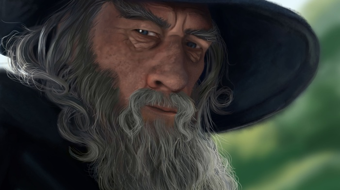 hat, fantasy, The Lord of the Rings, art, gray