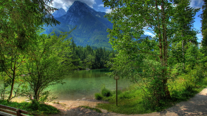 nature, mountain, landscape, HDR, trees, Germany