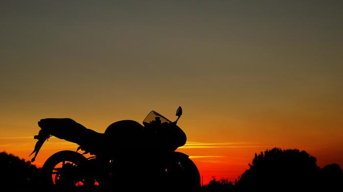 sky, stunner, moto, sunset