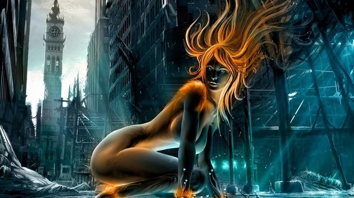 erotic, girl, 3D