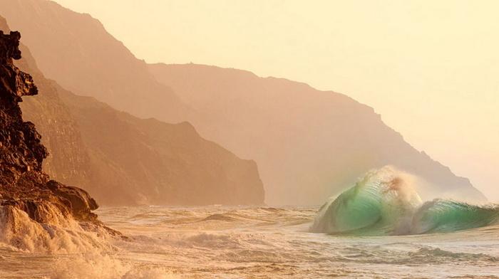 beauty, stunner, wave, rocks, coast