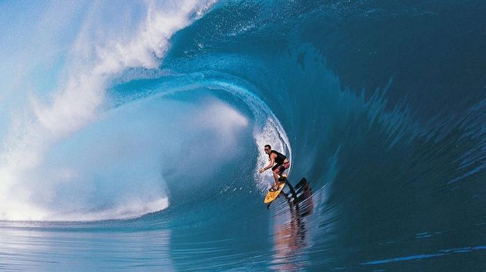 wave, man, surfing, summer, splash, water, beautiful, sports, ocean
