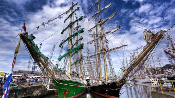 boat, HDR, ship