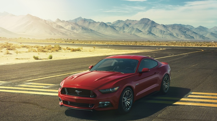 mountain, sportcar, gt, supercar, auto, race, red, cars, Ford, mustang