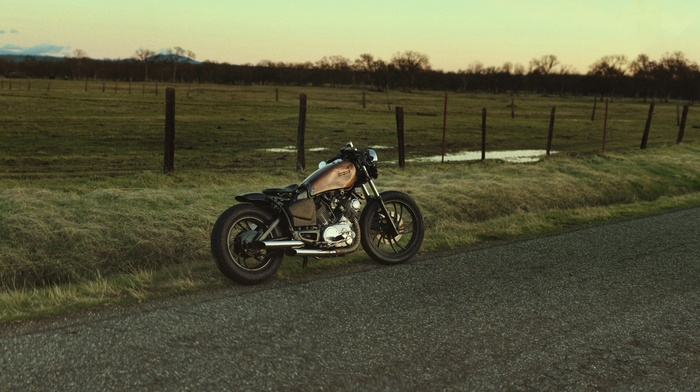 road, Bobber, field