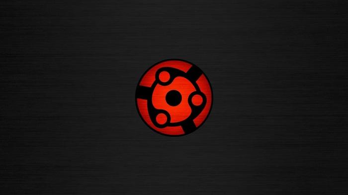 Sharingan, simple background, Naruto Shippuuden