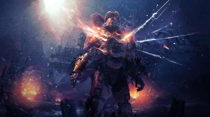 video games, Master Chief, Halo, Halo Master Chief Collection, halo 4, xbox one, artwork
