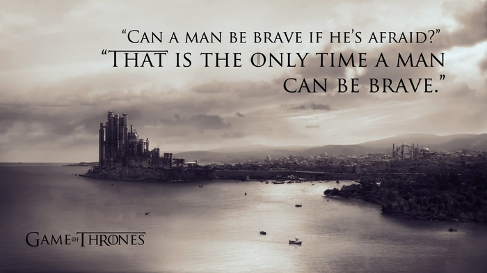 quote, typography, Game of Thrones, monochrome