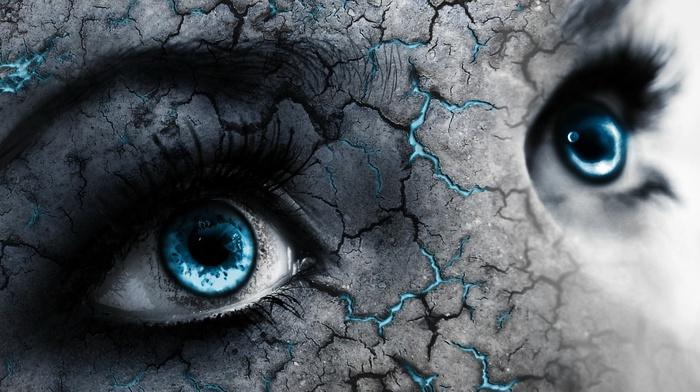 eyes, blue, artwork