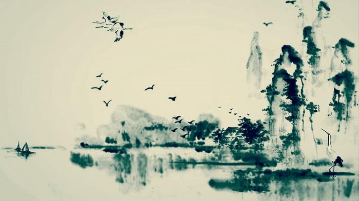 картина, вода