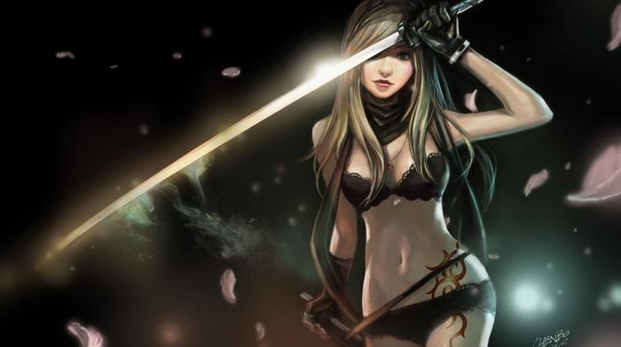 мульт, аниме, меч, девушки