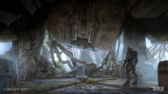 Master Chief, Halo Master Chief Collection, concept art, Halo, video games, xbox one, Halo 5