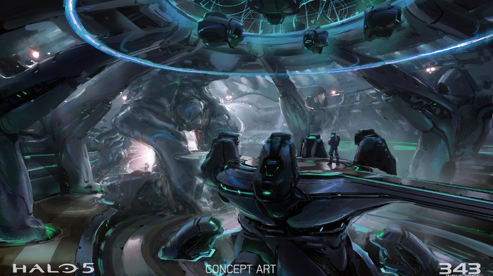concept art, Halo Master Chief Collection, video games, Halo, xbox one, Halo 5, Master Chief