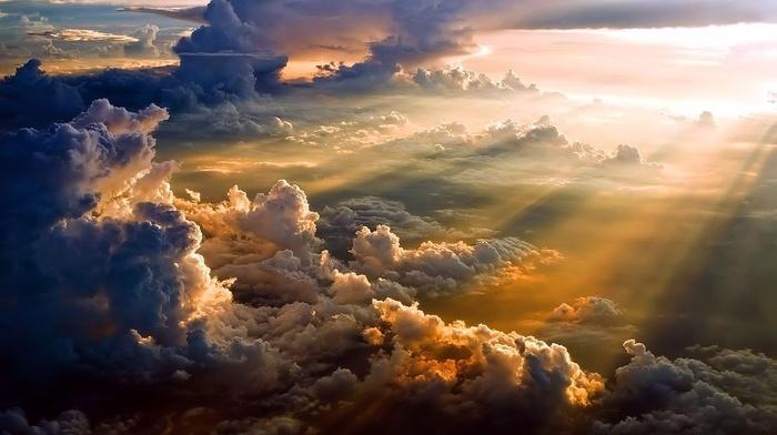 clouds, sky, light, nature