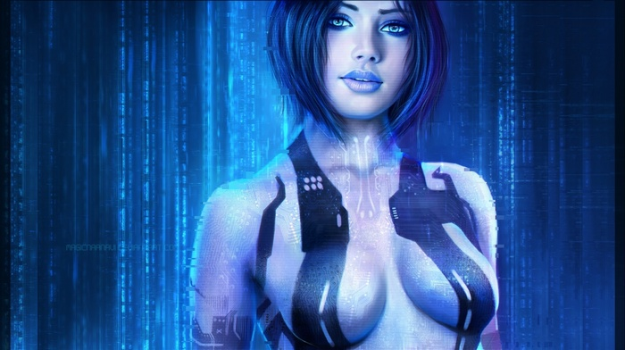 Halo 3, Halo 2, blue hair, video games, Cortana, girl, Halo Master Chief Collection, Halo, halo 4