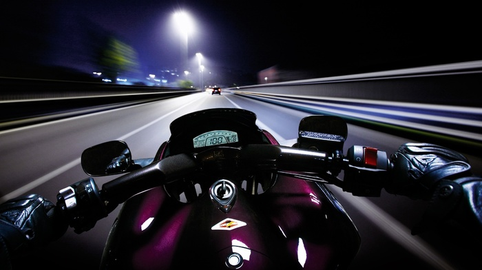 point of view, night, speedometer