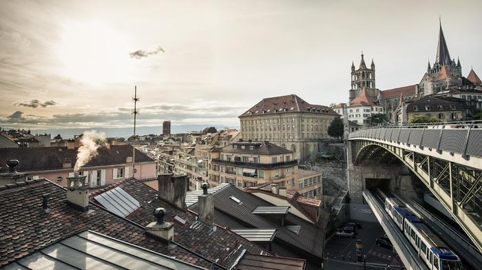 cityscape, city, Switzerland, lausanne