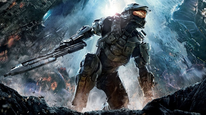 video games, fantasy art, halo 4, Halo, Master Chief, Xbox 360, Halo Master Chief Collection, gun, science fiction