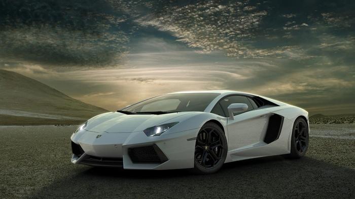 Ламборгини, Lamborghini Aventador, машина, спортивная машина