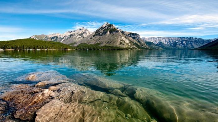 beautiful, mountain, fishing, lake, stunner, forest, nature