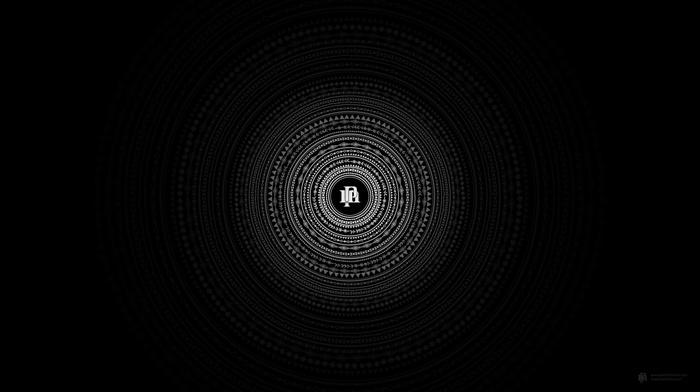 black, minimalism, circle