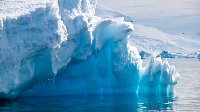 айсберг, антарктида, красивые, красота