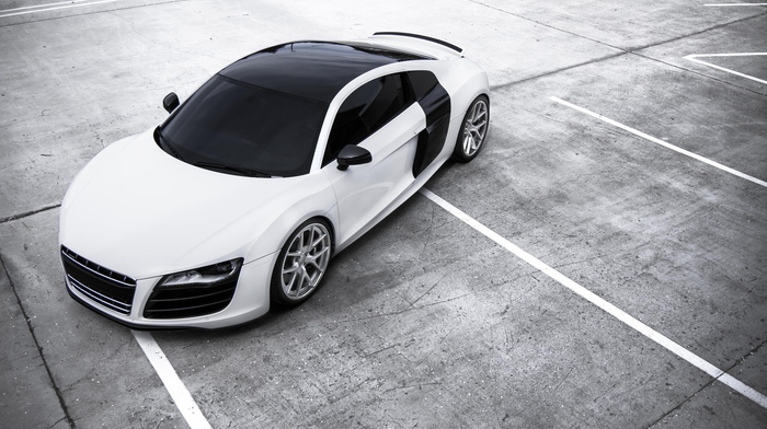 cars, Audi, white