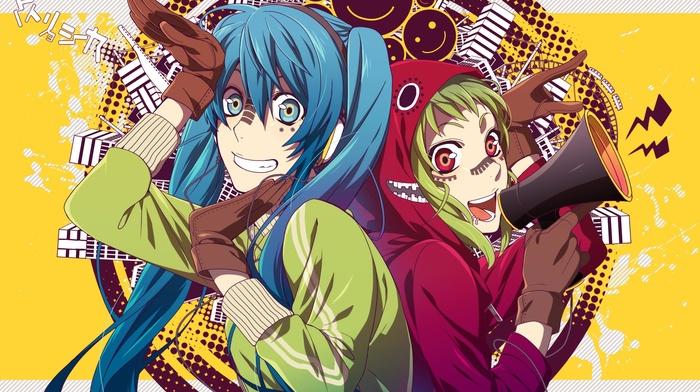 Megpoid Gumi, Hatsune Miku, anime girls, Vocaloid, anime