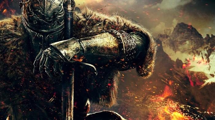 DeviantArt, воин, цифровое искусство, произведение искусства, Dark Souls, меч, игры, горы