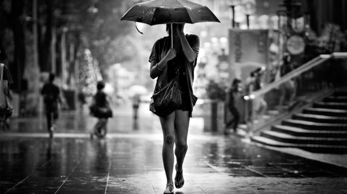 rain, girl