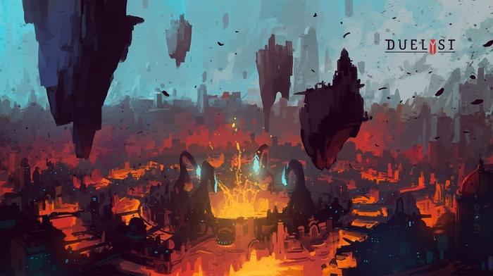 Duelyst, artwork, digital art, concept art, Digital 2D, video games, Anton Fadeev