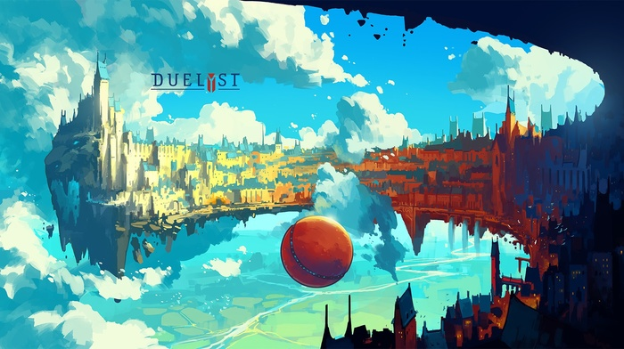 artwork, Digital 2D, Duelyst, digital art, floating island, Anton Fadeev, concept art