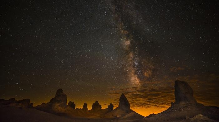 sky, stars, landscape