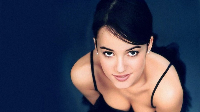 eyes, face, brunette, smiling, Alizee, girl, singer