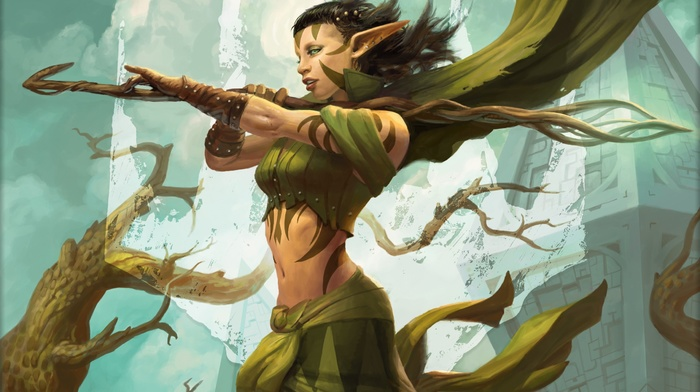 Nissa Revane, druids, magic, elves, Planeswalkers, Peter Mohrbacher, magic the gathering, Worldwalker