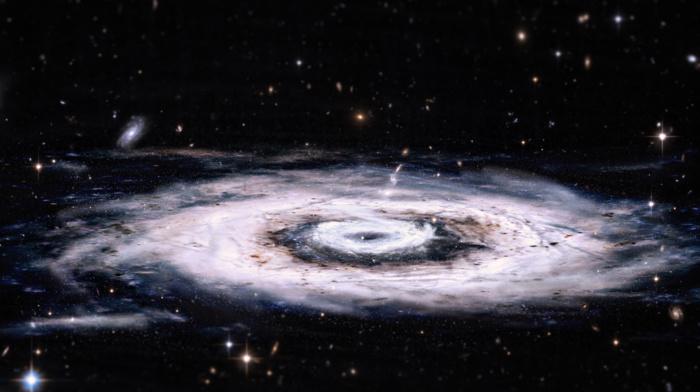 красочно, галактика, туманность, космос