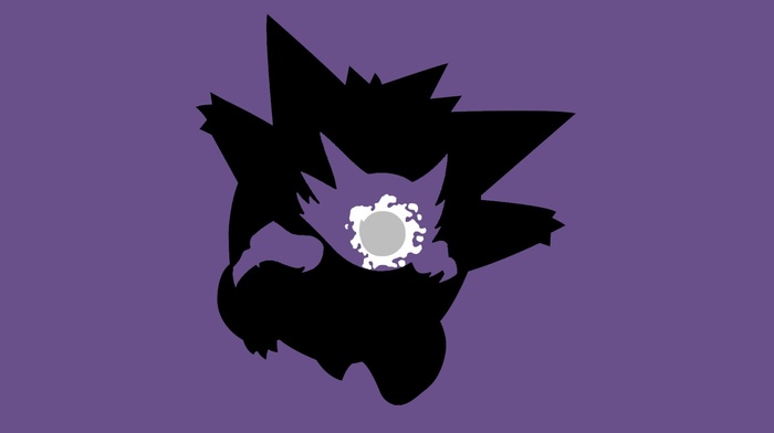 minimalism, evolution, simple background, Ghastly, gengar, Haunter, Pokemon