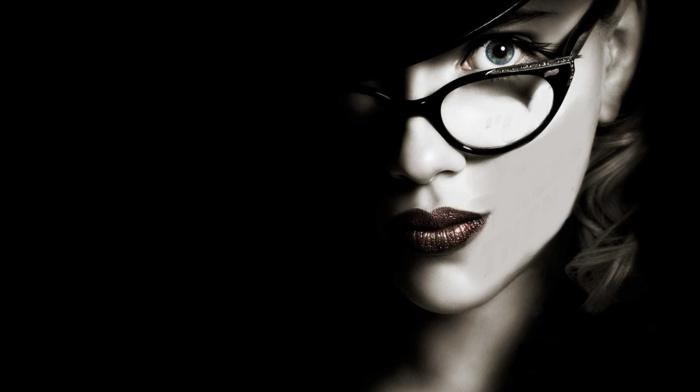 black, Scarlett Johansson