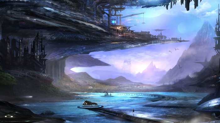 space, fantasy art