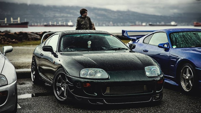 спортивная машина, дрифт, Тойота, улица, старые автомобили, машина