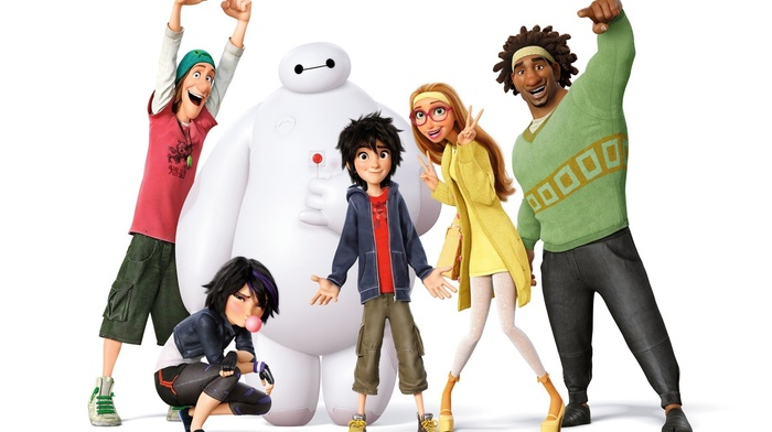 Baymax Big Hero 6, Walt Disney, animated movies, Go Go Tomago, movies, Big Hero 6, Honey Lemon Big Hero 6, Wasabi Big Hero 6, Hiro Hamada Big Hero 6, Fred Big Hero 6, lollipop, Disney